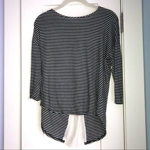 Classic Striped Zipper Top